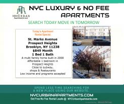 Apartment in New York Brooklyn for $849 per month