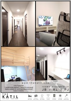 Multiple rooms offered in Permas jaya Johor Malaysia for RM800 p/m